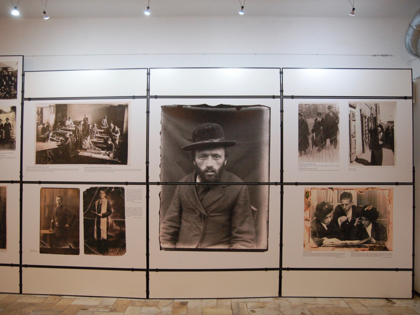 An exhibition at the Jewish Center in Kielce, Poland, located near the site of an infamous pogrom in 1946. Exhibitions focus on the long history of Jews in the city.