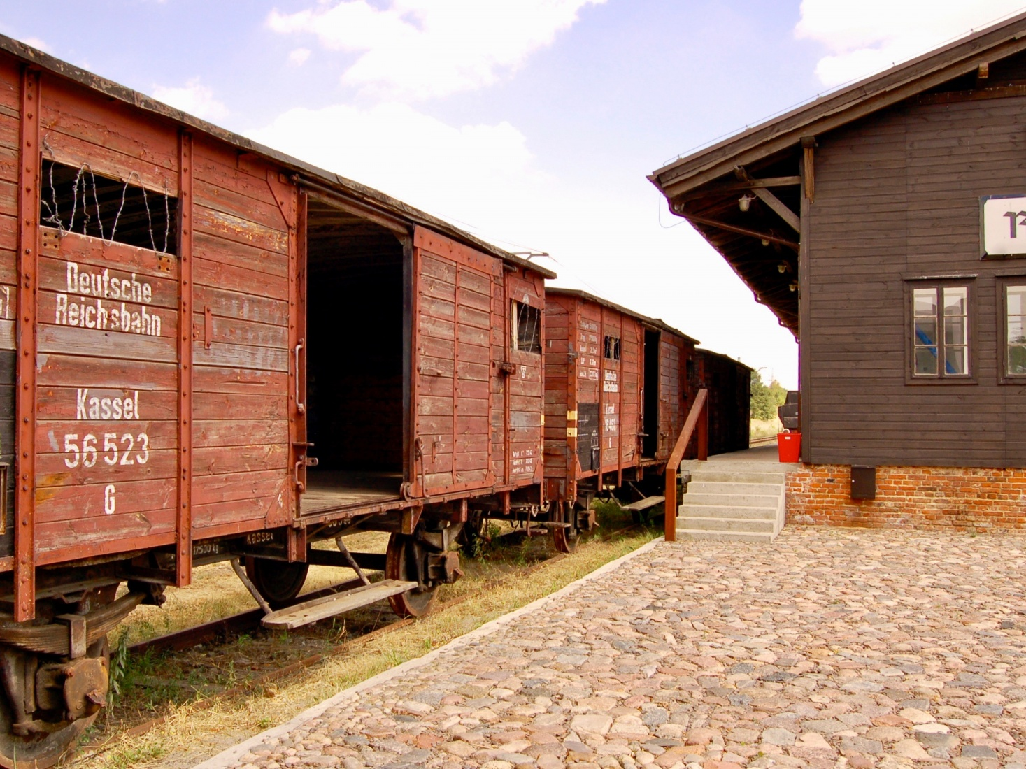 Cattle cars used to move Jewish victims to extermination camps when the ghettos got too full, as they did in Łódź, Poland.