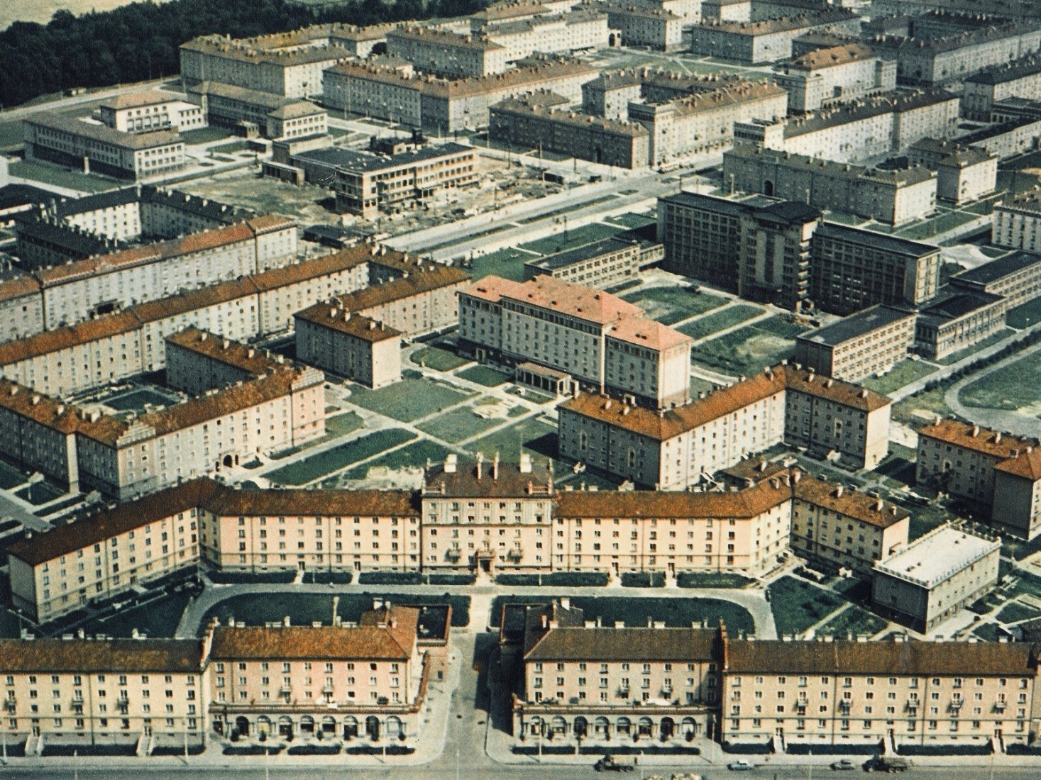 An aerial view in the Czech-Silesian mining city of Havířov, Czech Republic, showing blocks of worker housing built between the 1950s and 1970s. Photo credit: iDNES.cz