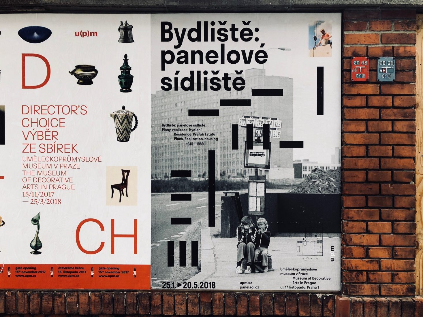 Advertisement for the Museum of Decorative Arts' in Prague, Czech Republic.