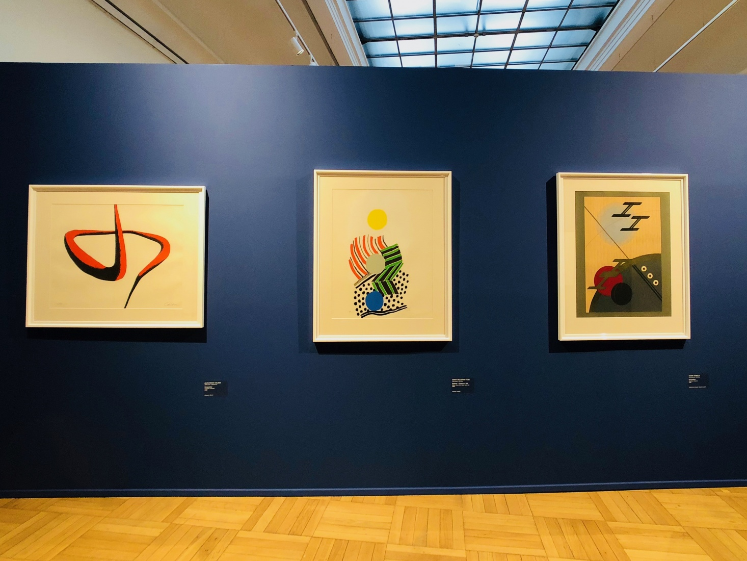 An exhibition in the House of Art, Ostrava, Czech Republic, featuring abstract graphics from the 1930s.