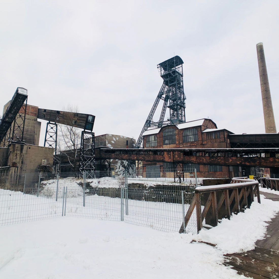 Infrastructure of Dolni Vitkovice, the former steel mill complex, in Ostrava, Czech Republic.