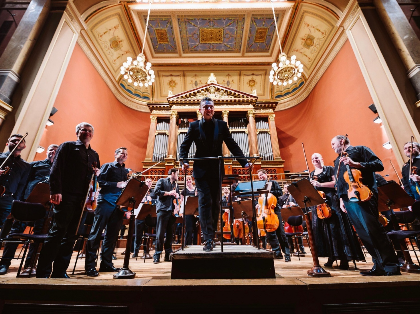 The Prague Radio Symphony Orchestra and conductor Jan Kučera, in Prague, Czech Republic. Photo credit: Dušan Vondra.
