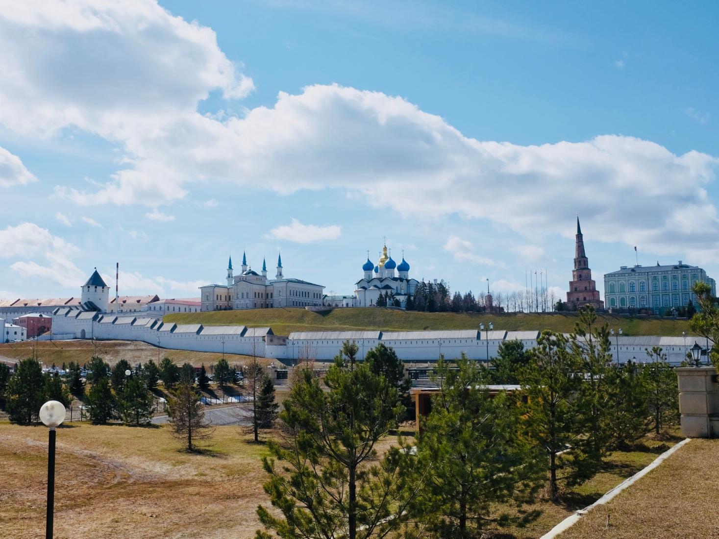 The Kazan kremlin in spring, Kazan, Tatarstan, Russia.