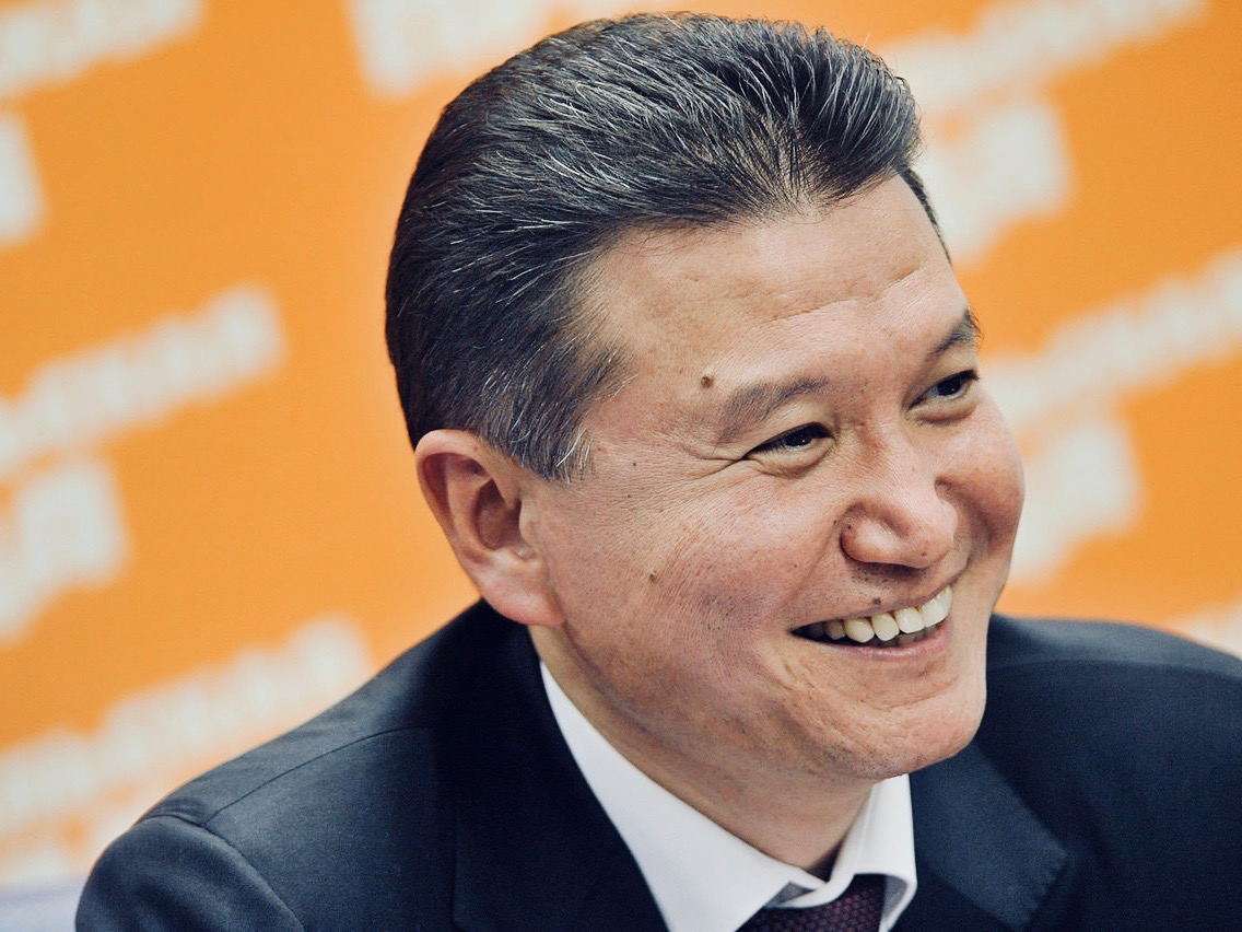 Former Kalmyk president and multimillionaire Kirsan Ilyumzhinov, current president of the World Chess Federation (FIDE) since 1995. Famously claims to have been abducted by aliens. Source: kirsanchess.com