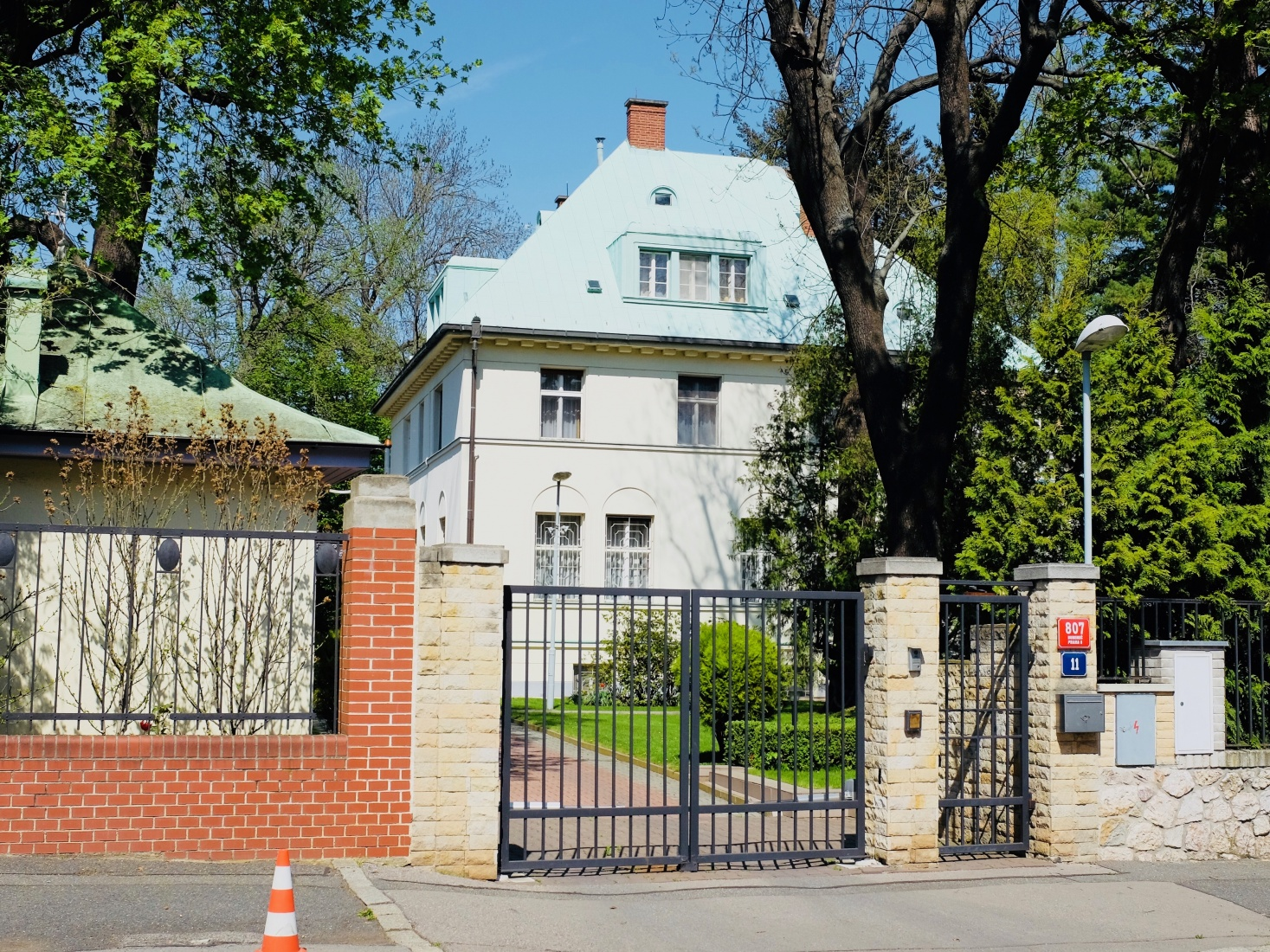 Russian-owned villa in Prague, Bubeneč, near Rossotrudnichestvo at Na Zátorce 11 in Little Moscow.