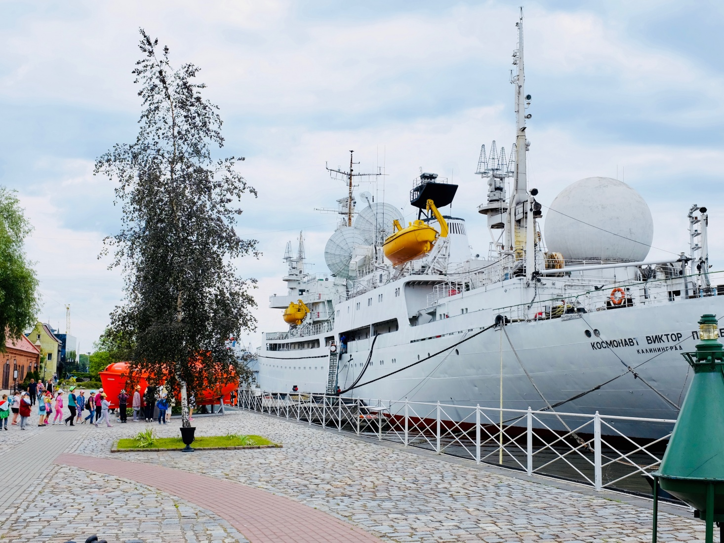 Museum of the World Ocean ship in Kaliningrad, Russia, where tourists can explore old Russian research boats.