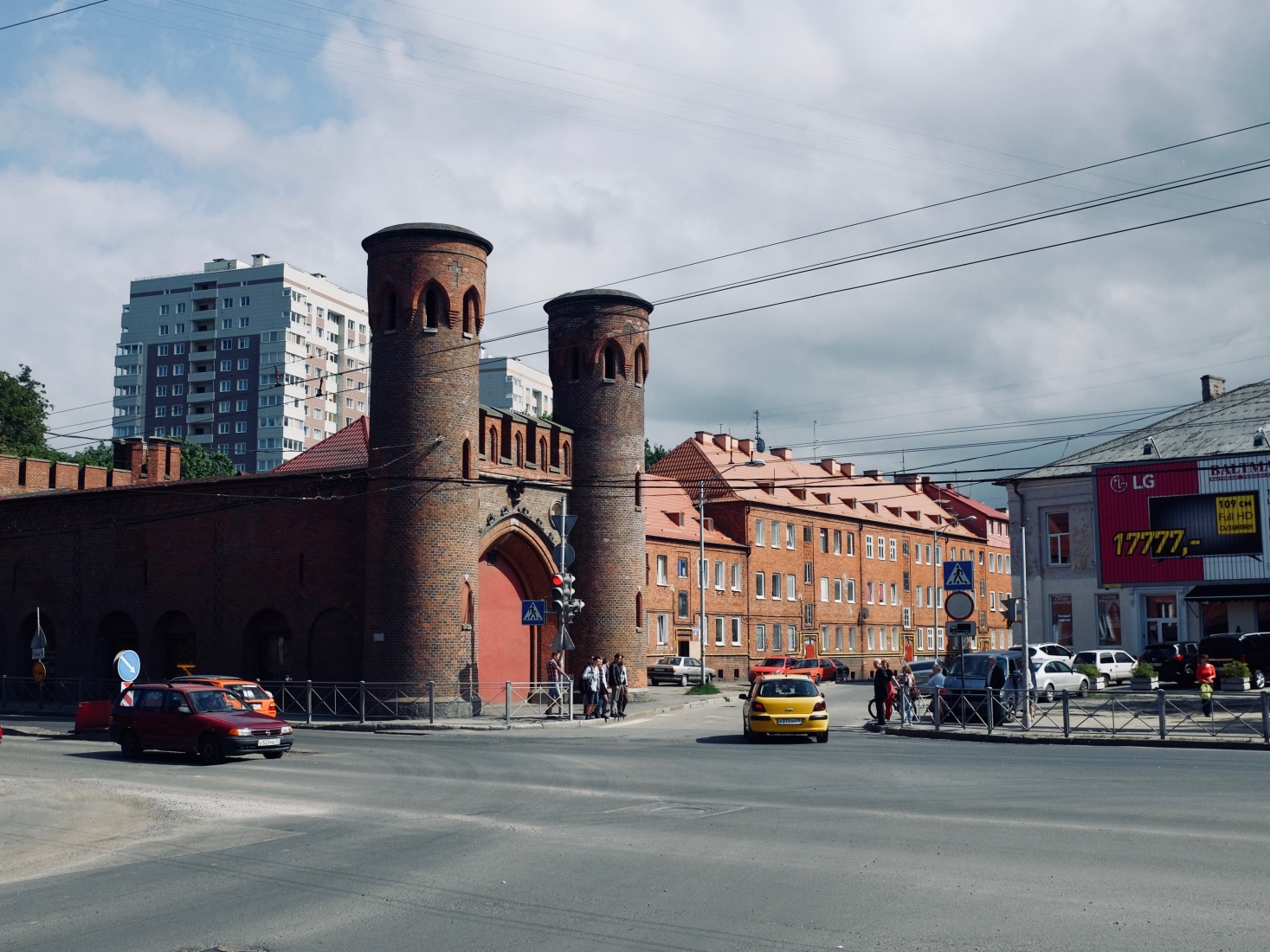 Surviving Prussian military gate, the Zakheim Gate, one of eight, from the mid-19th century in Kaliningrad, Russia, which now houses an art gallery.