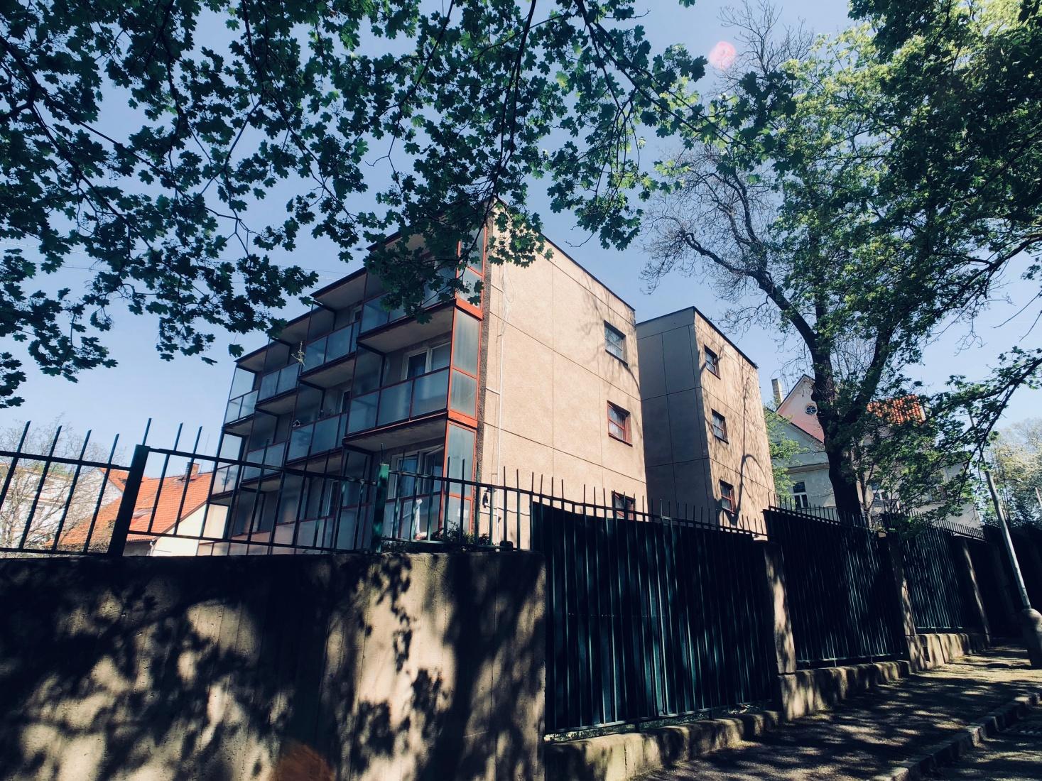 Residential units for Russian embassy, Prague, Bubeneč, staff and guards, near Siberia Square, Sibiřské náměstí, in Little Moscow on  K Starému Bubenči street.
