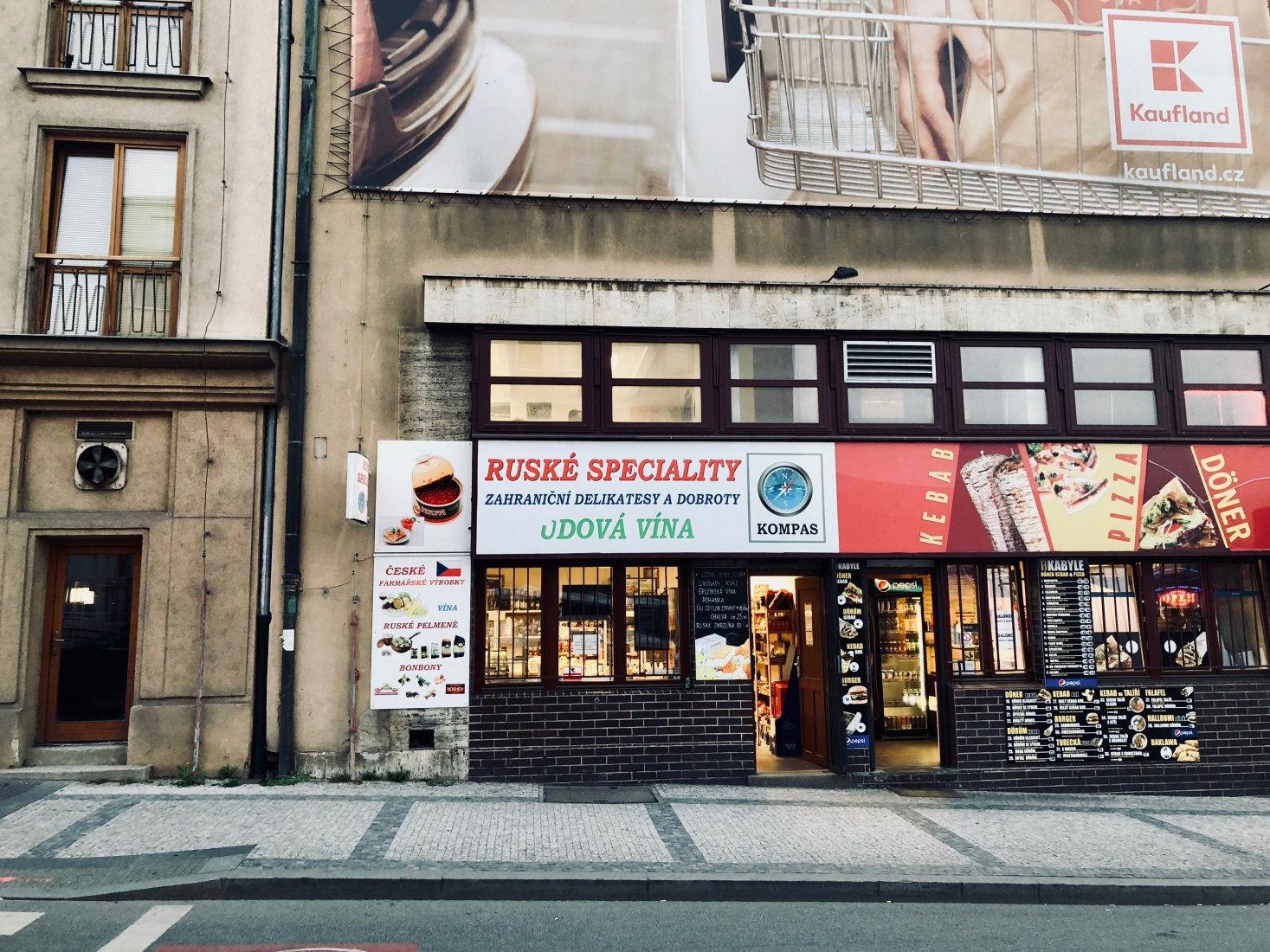 Russian convenience store in Prague, Bubeneč, that specializes in Russian food, a favorite of locals.