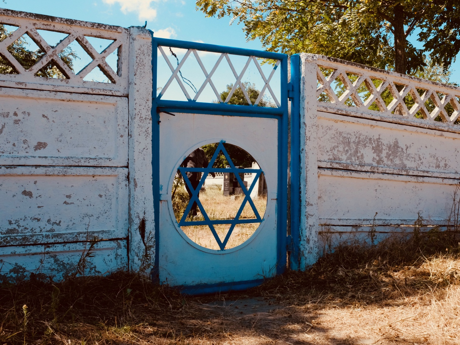 The Star of David marks the entrance to the Jewish section of Sulina cemetery in Romania.