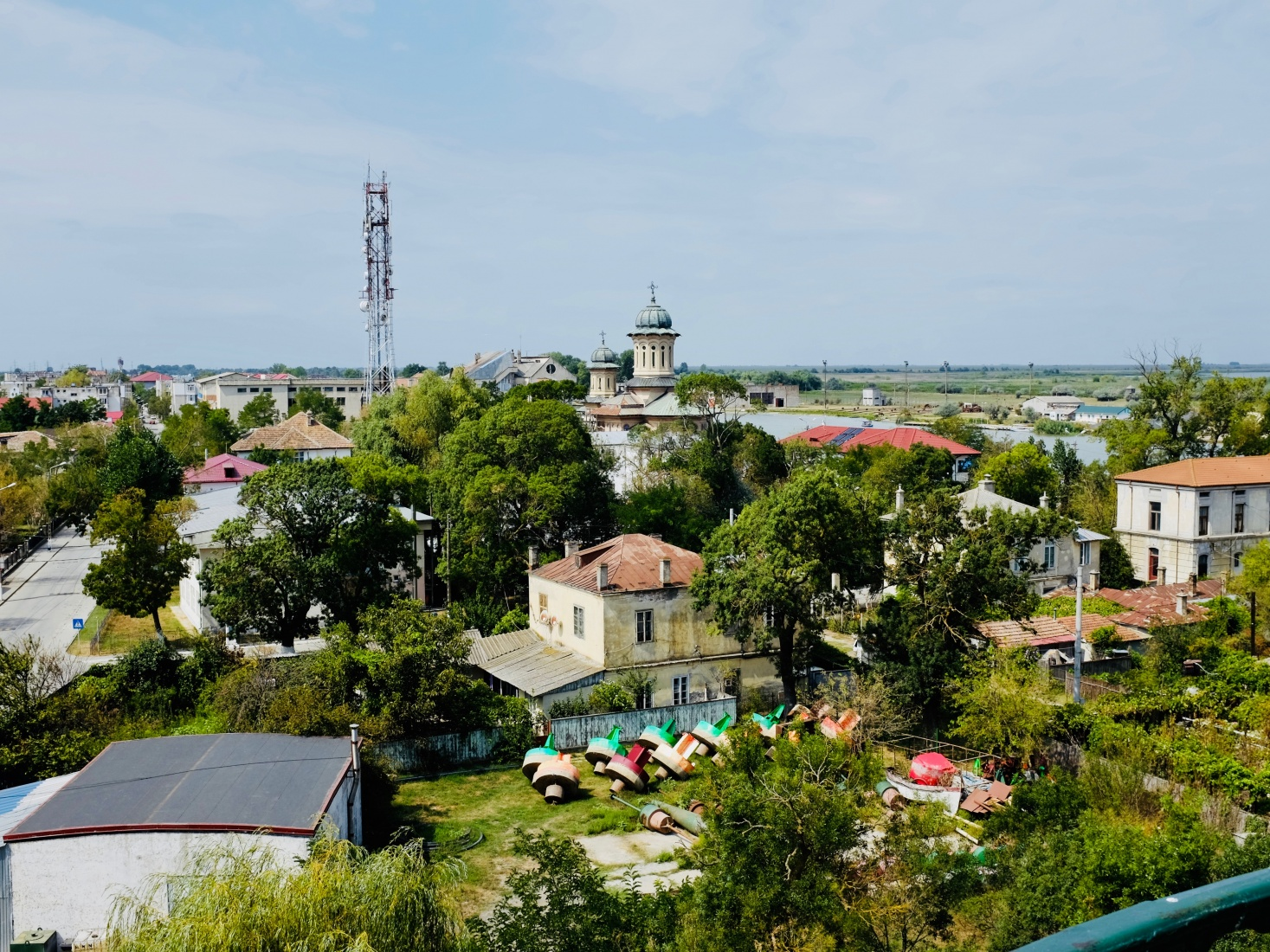 Modern-day Sulina, Romania -- a small Danube delta town with a culturally rich history.
