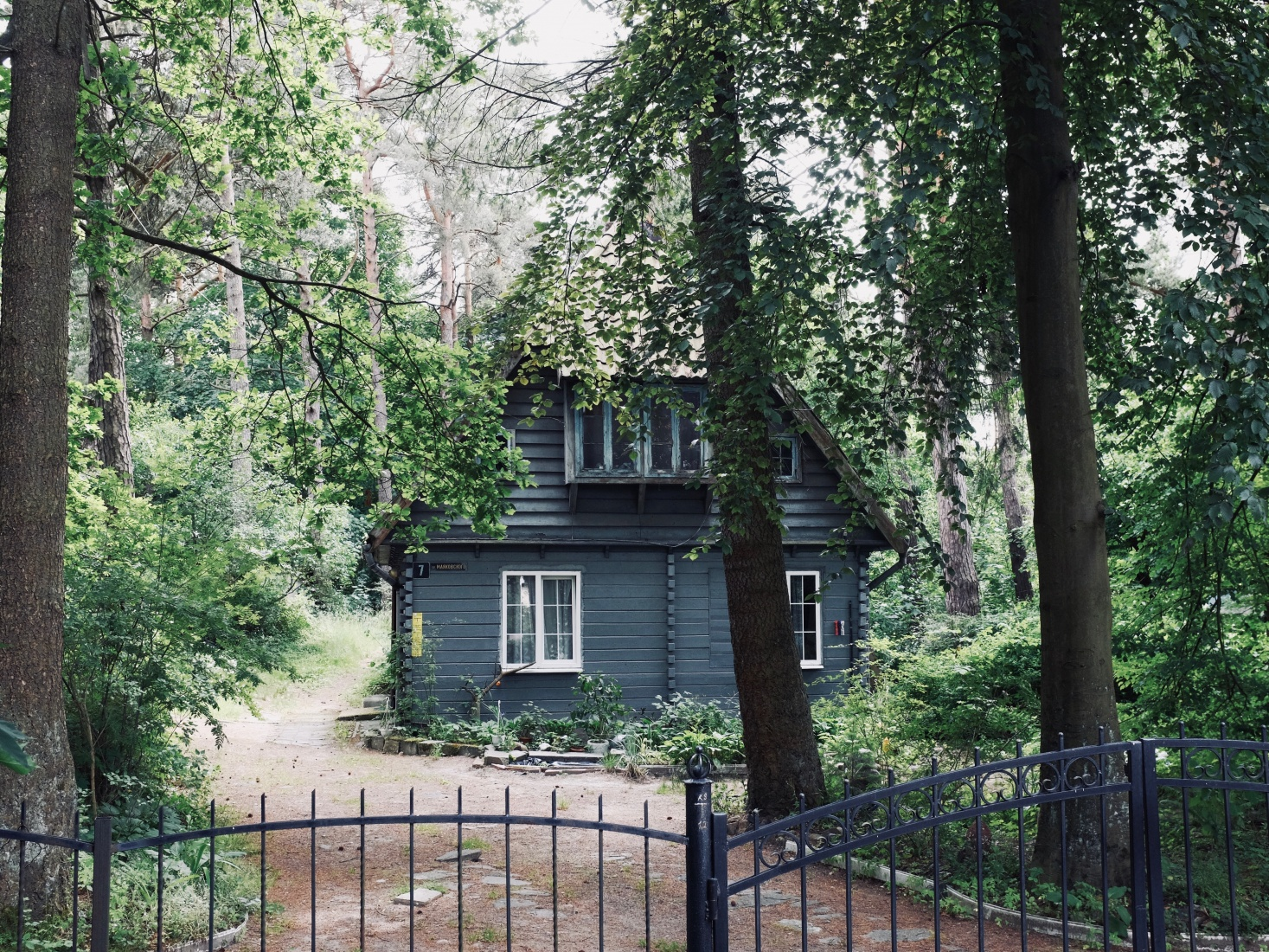 A small house in the woods in the old Prussian spa town of Svetlogorsk, near Kaliningrad, Russia.