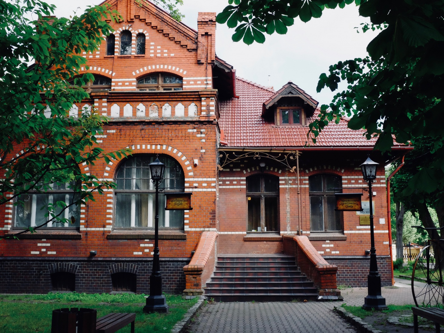 Surviving old red brick Prussian buildings in Zelenogradsk, outside Kaliningrad, Russia.