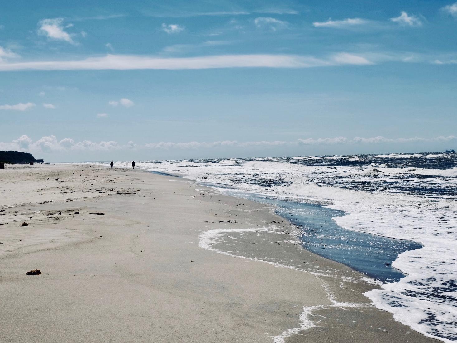A beach along the Kaliningrad Curonian Spit, outside Kaliningrad, Russia.