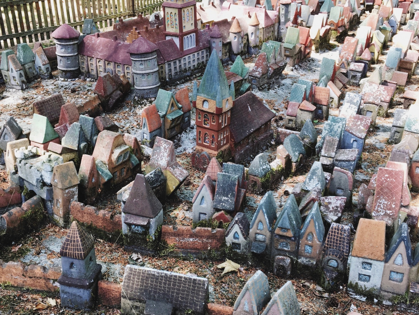 Miniature model of Kaliningrad medieval town center in a small park outside the center of Svetlogorsk, near modern day Kaliningrad, Russia.