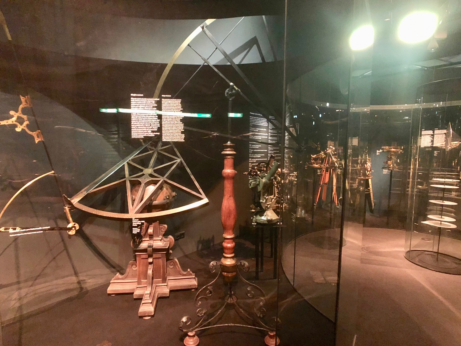 A large sextant used by Johannes Kepler to observe the position of Mars on two occasions, on display at Prague's National Technical Museum.