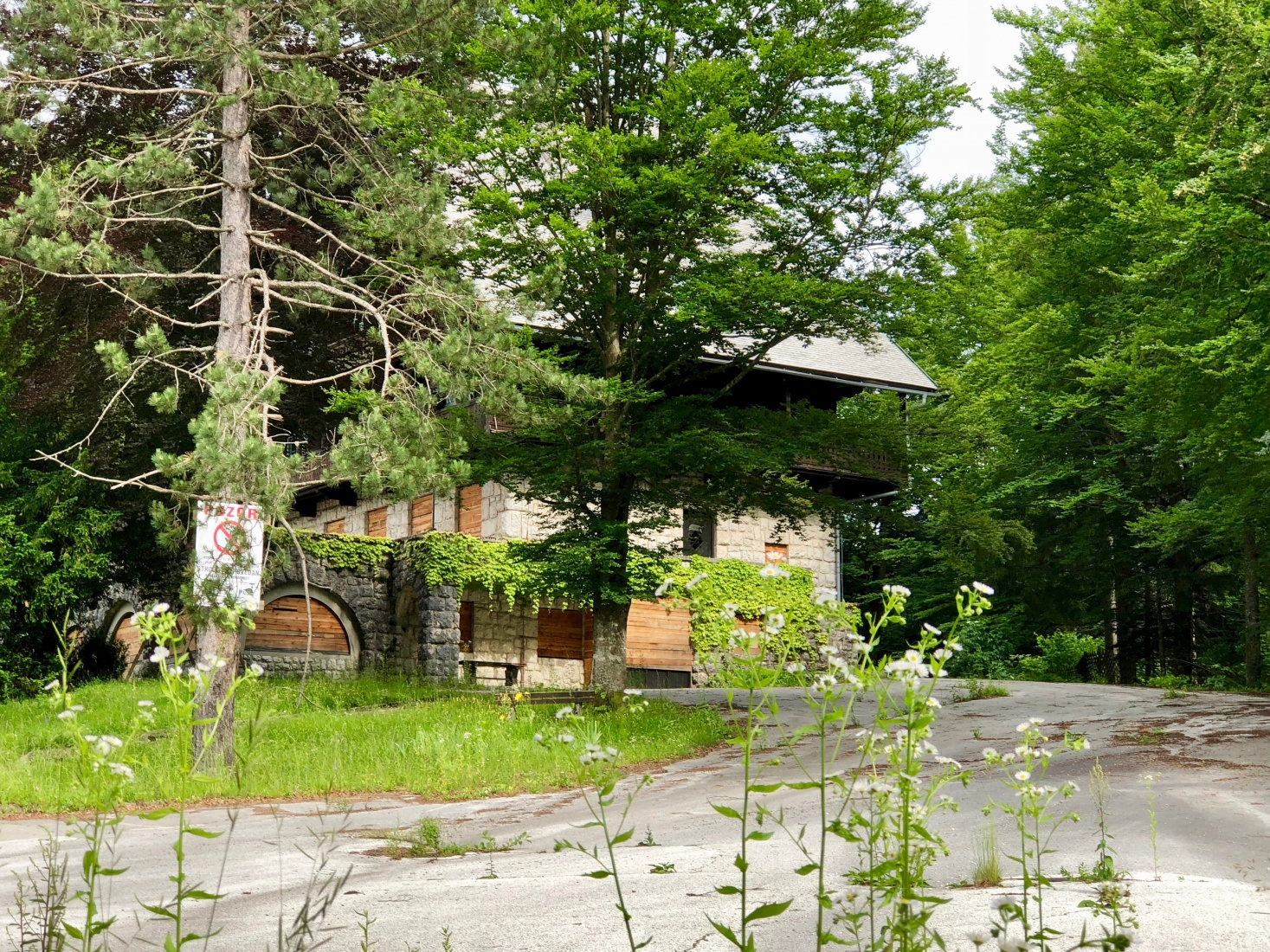 English author Agatha Christie stayed at Lake Bohinj, Slovenia, in the 1960s. Her favorite hotel is now closed down and abandoned.