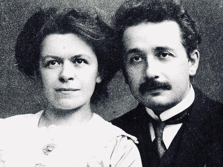 A photo of Einstein's wife, Mileva Marić, and Albert Einstein in 1911. Photo credit: ETH Library Archives, Zurich.
