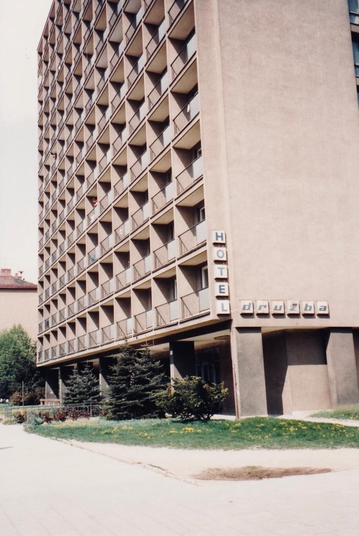 A photo of Mark Baker's program dorm,