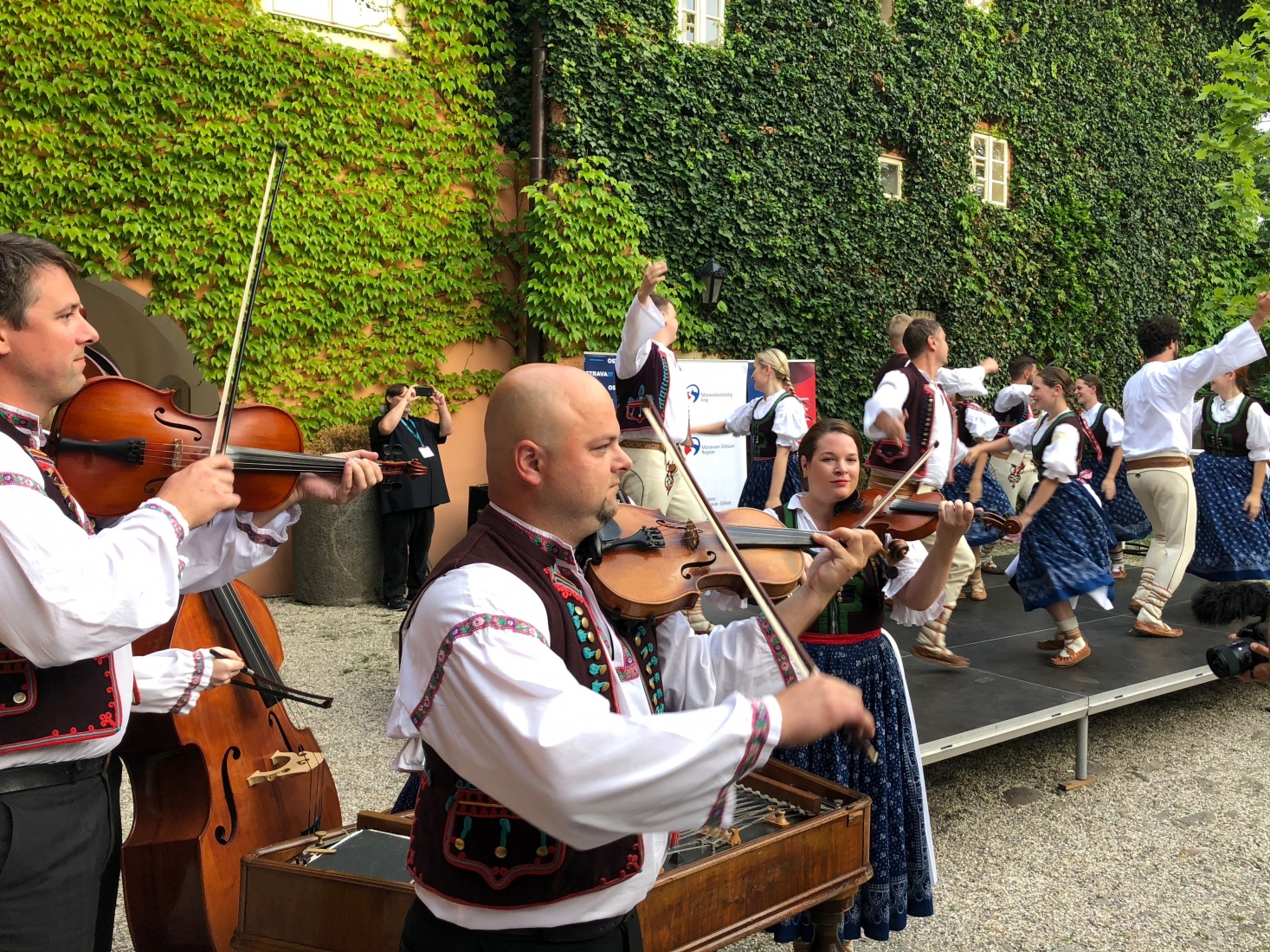 The opening party featured some Moravian-Silesian folk music and dancers, at TBEX Europe 2018 presentation, in Ostrava, Czech Republic.