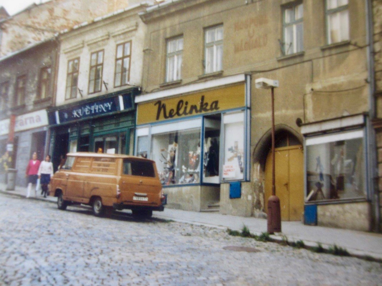 An atmospheric photo of the Moravian town of Třebíč, Czech Republic, from one of our field trips, in summer 1988.