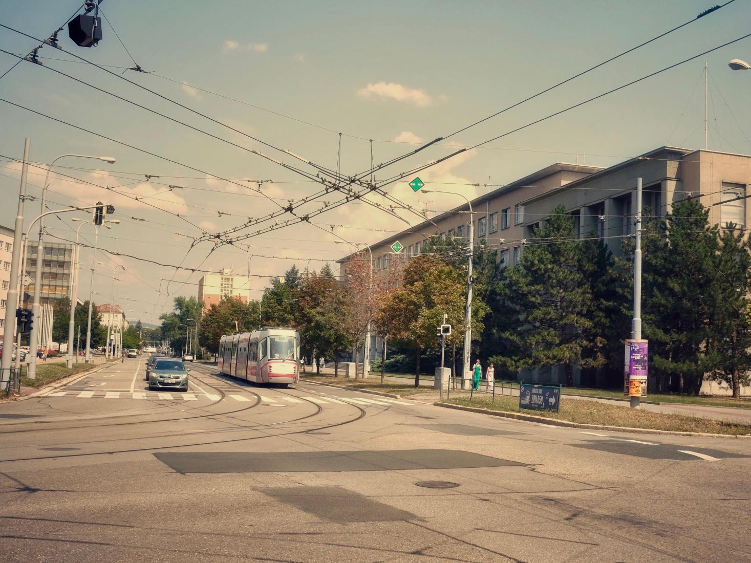 Former Leninova street as it appears now, in Brno, Czech Republic.