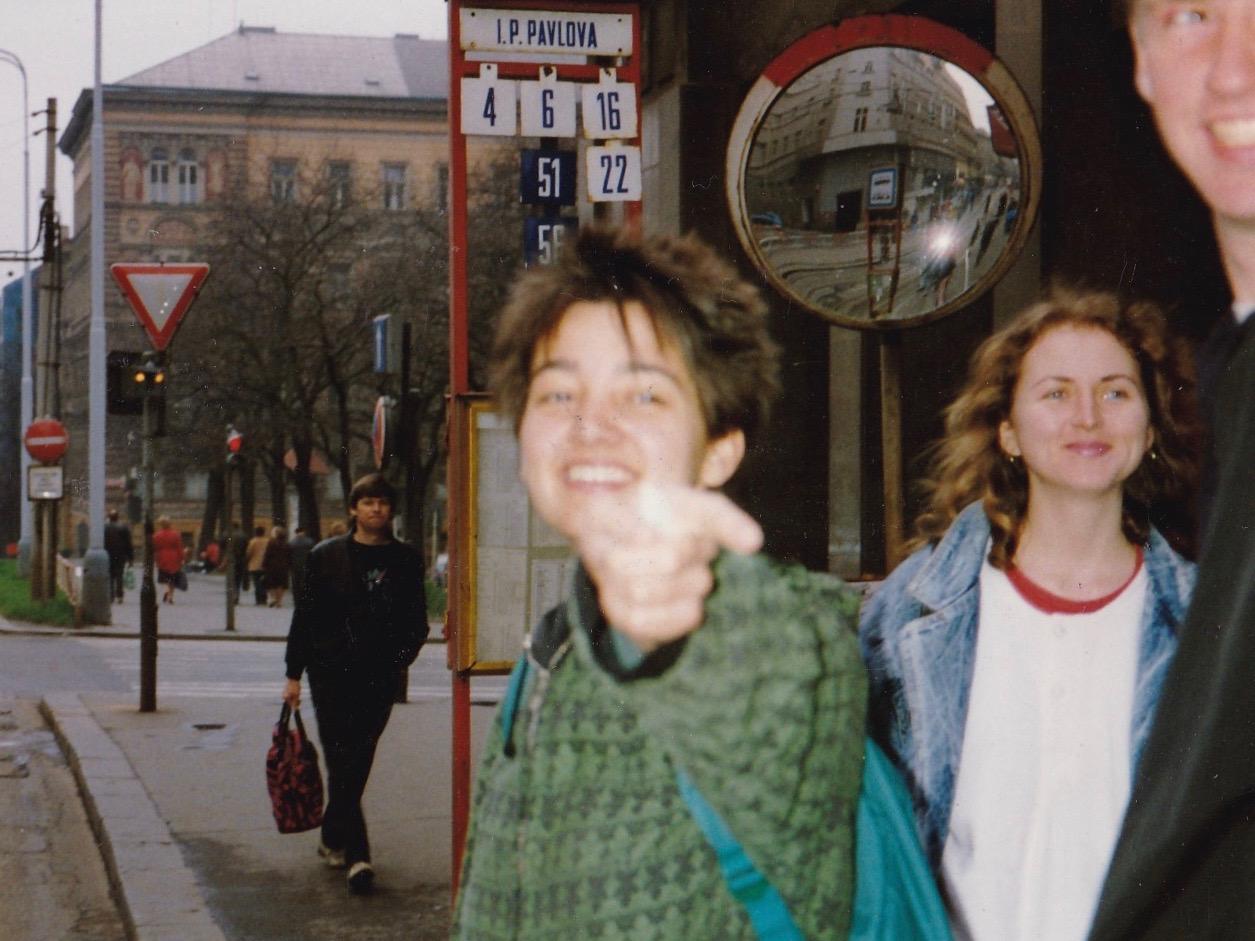 Katrin, in Prague, Czech Republic, 1989.