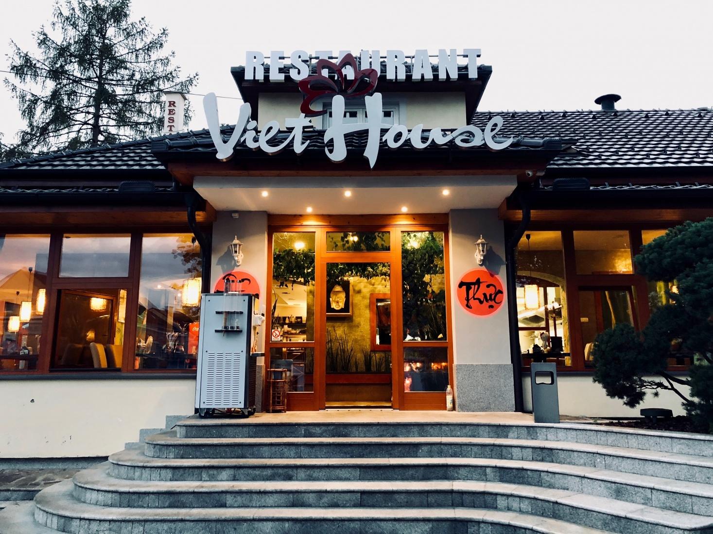 A Vietnamese restaurant in České Velenice, Czech Republic.