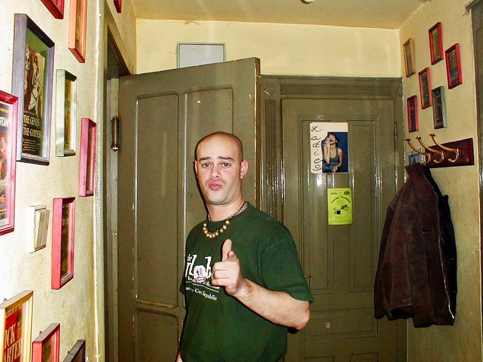 Coffeehouse manager Todd B from The Globe Bookstore and Coffeehouse, in Prague, Czech Republic.