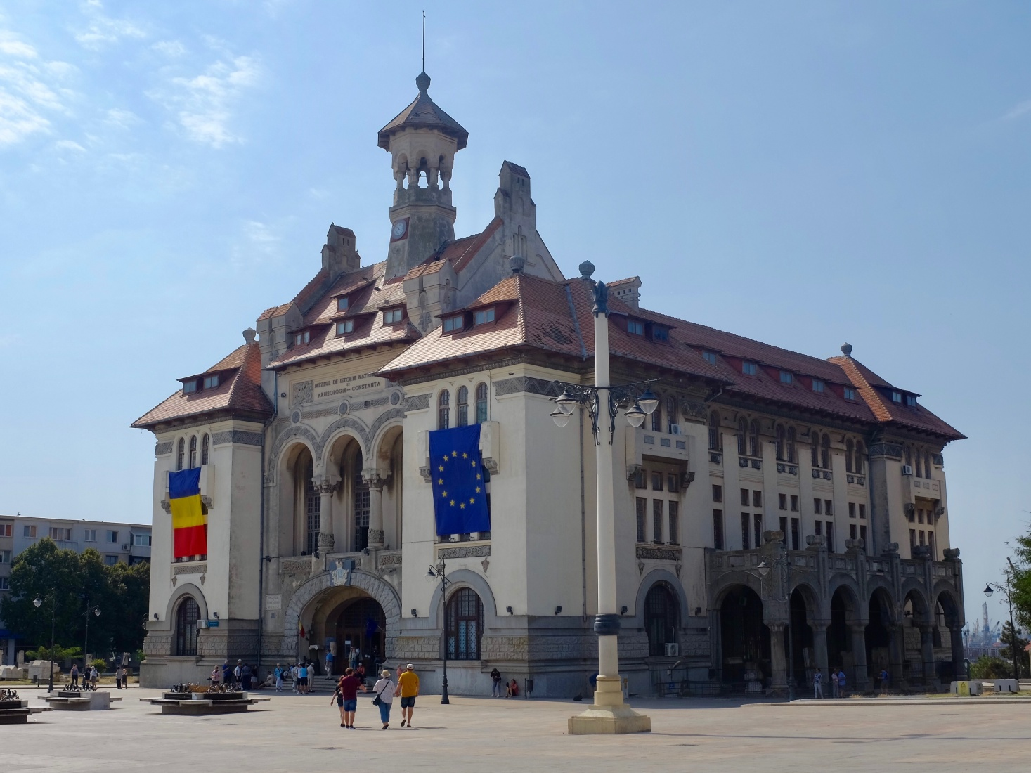 The National History & Archaeological Museum in Constanța, Romania, in an early 20th century mansion on Ovid Square.