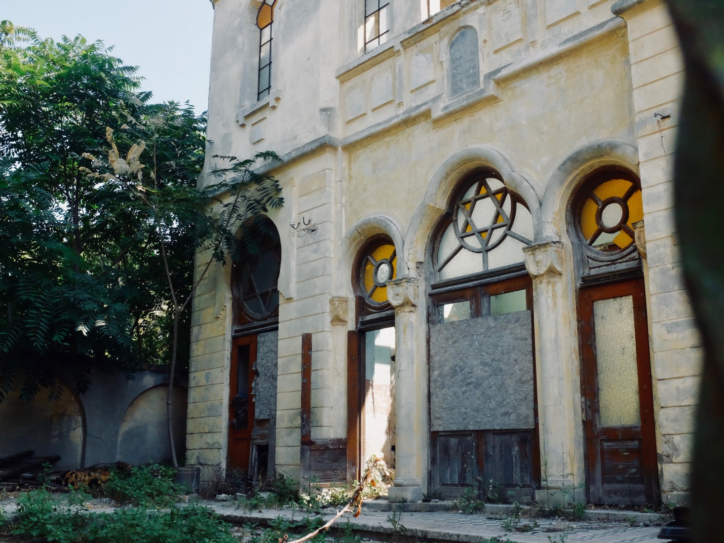 The old synagogue in Constanța, Romania, now derelict and abandoned.