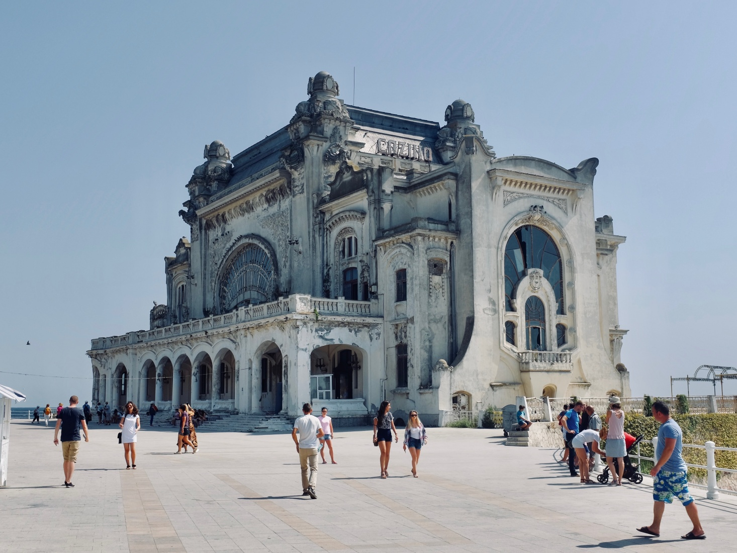 The abandoned Constanța Casino, on the main seaside promenade in Constanța, Romania.