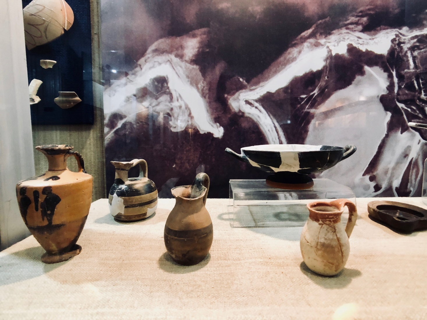 Ancient Greek vases and vessels in the Museum of National History and Archaeology in Constanța, Romania.