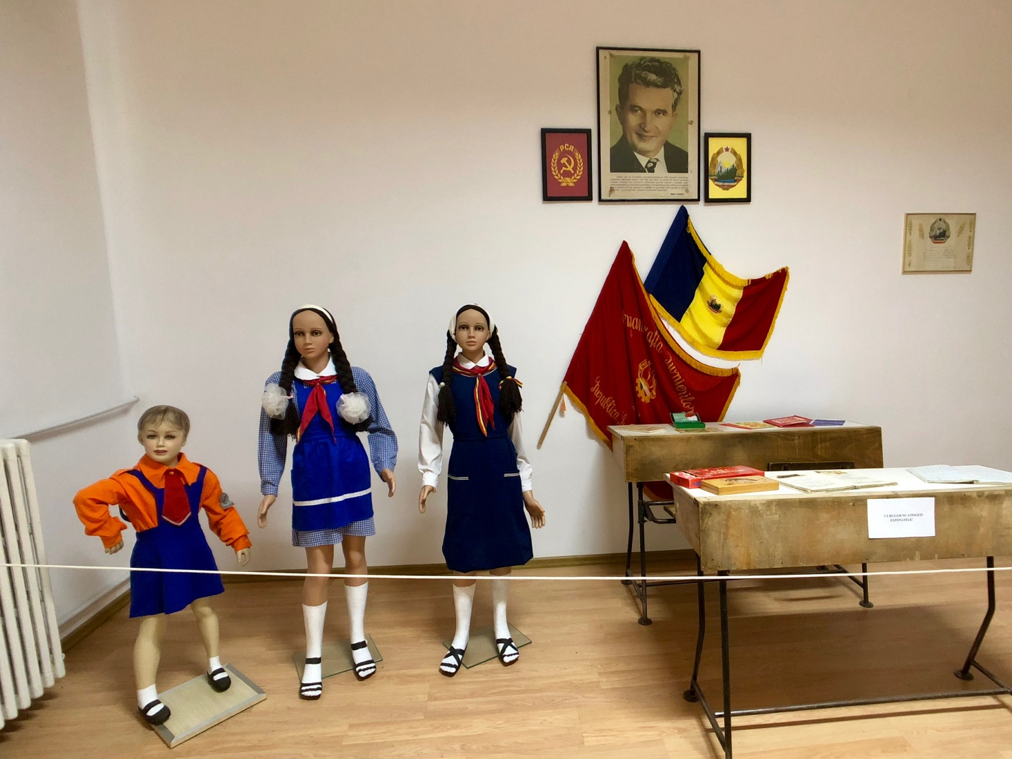 A modern day exhibit in the National History and Archaeology museum including a section about life under the dictatorship of Nicolae Ceaușescu, in Constanța, Romania.