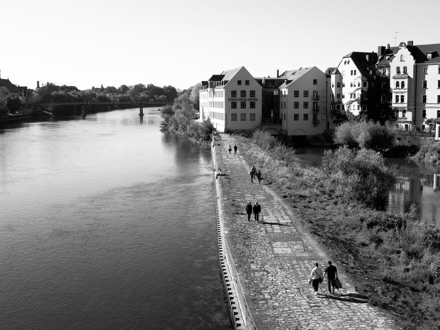 The city of Regensburg, Germany.