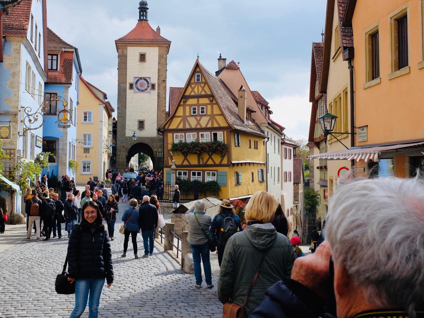 Rothenburg ob der Tauber, Germany, a huge tourist draw.