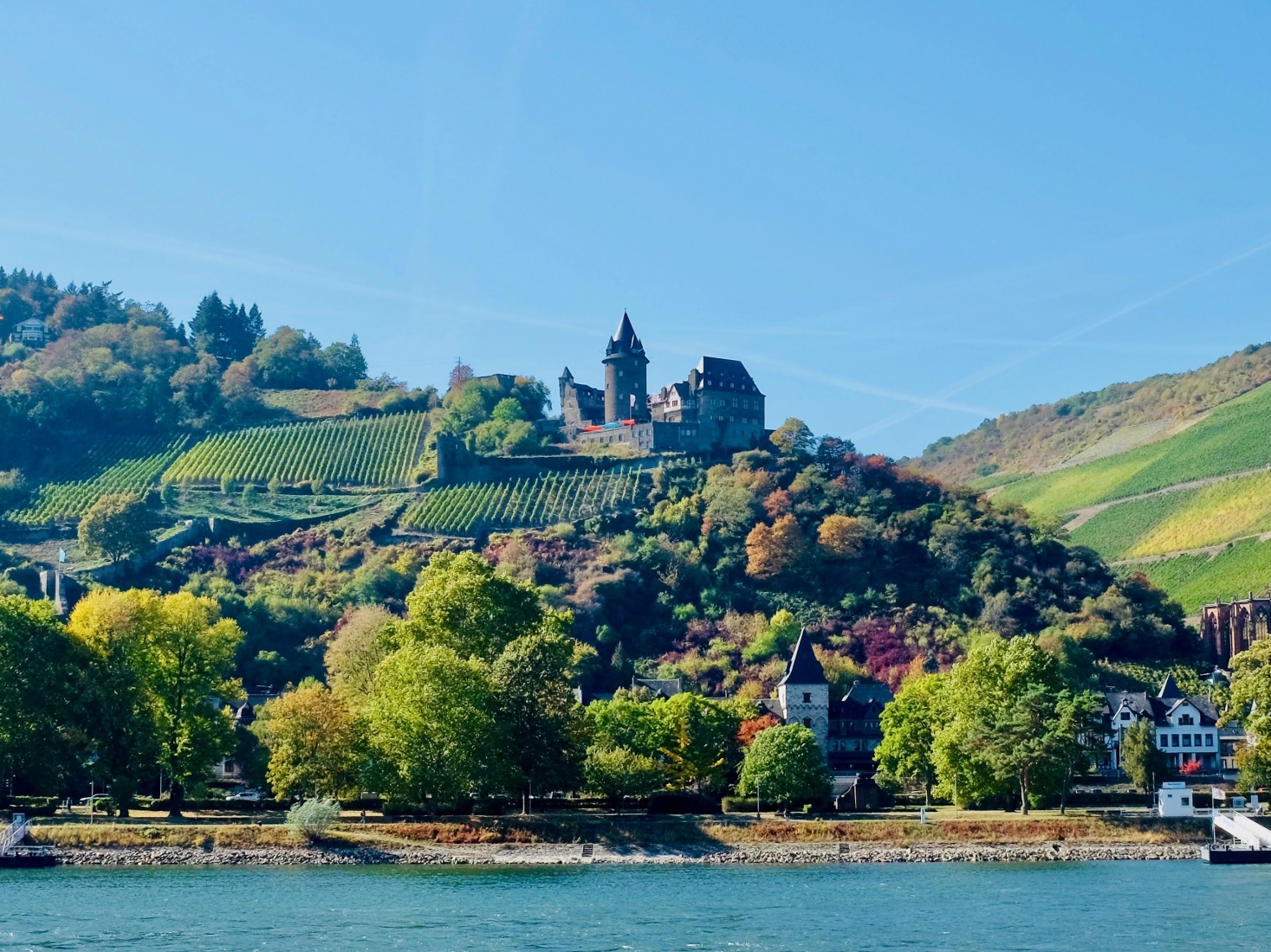 The Upper Middle Rhein Valley, UNESCO Heritage site with dozens of abandoned hilltop castles.