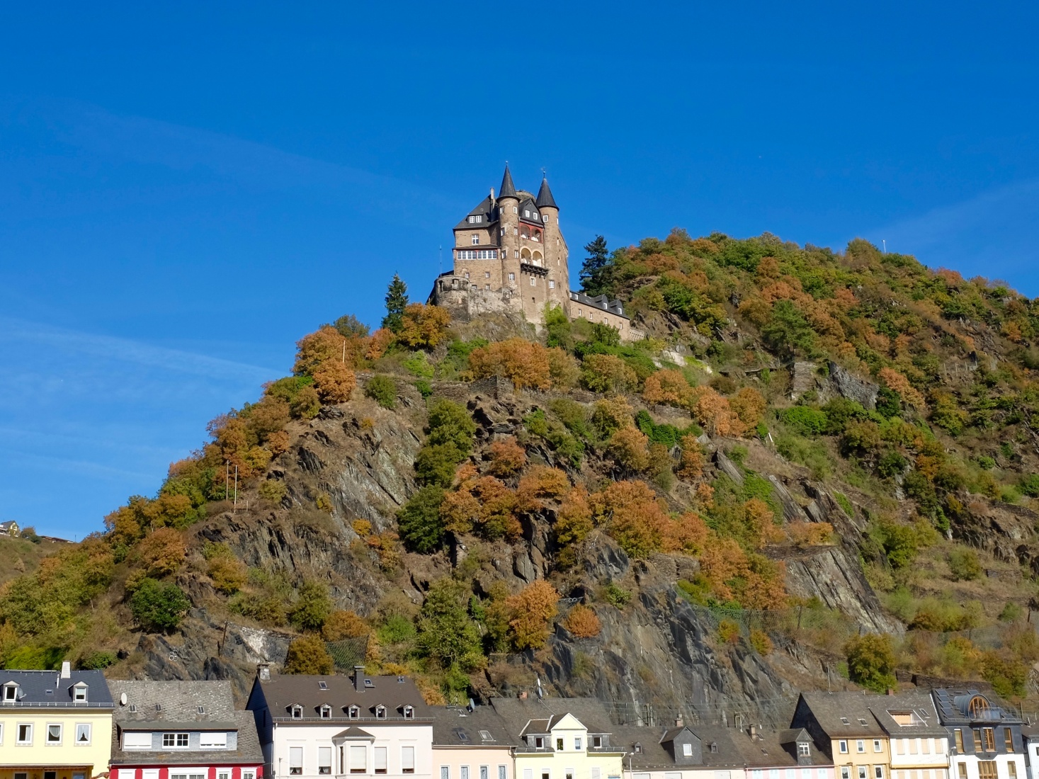 Sailing through the Upper Middle Rhein Valley, not far from the