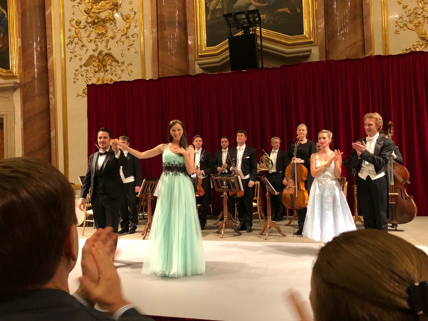 An evening concert in the Liechtenstein Palace, in Vienna, Austria.