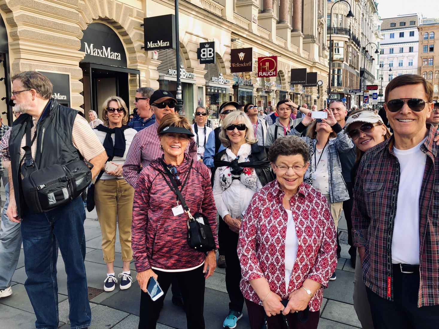 A group of National Geographic passengers on a walking tour in Vienna, Austria.